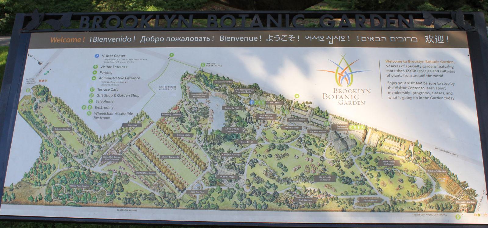Mapa botanickej záhrady